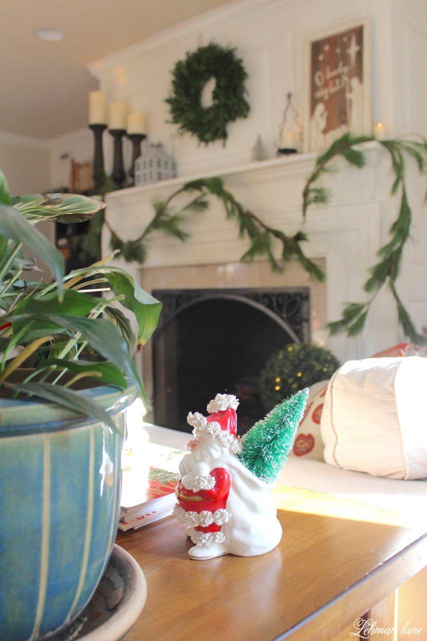 Green and white christmas mantel christmas mantels mantels and