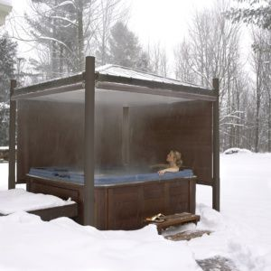 Tips for Using Your Hot Tub in Winter - Royal Spa Blog ... on Patio Cover Ideas For Winter id=83665