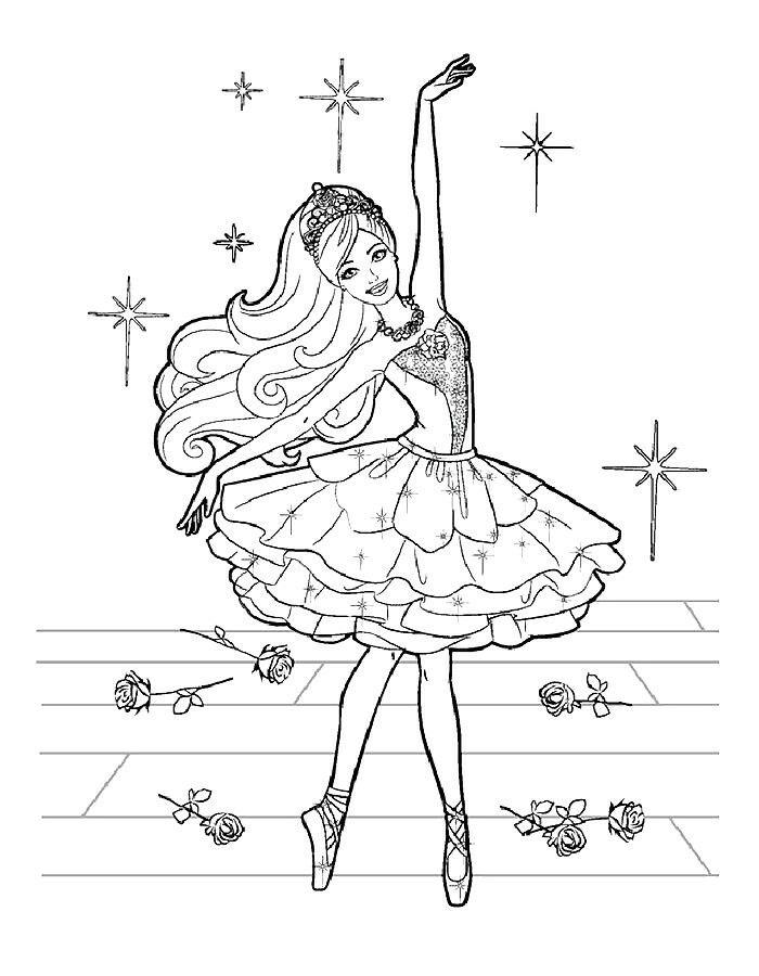 Barbie Балерина ДР от Лена | Раскраски, Детские раскраски ...