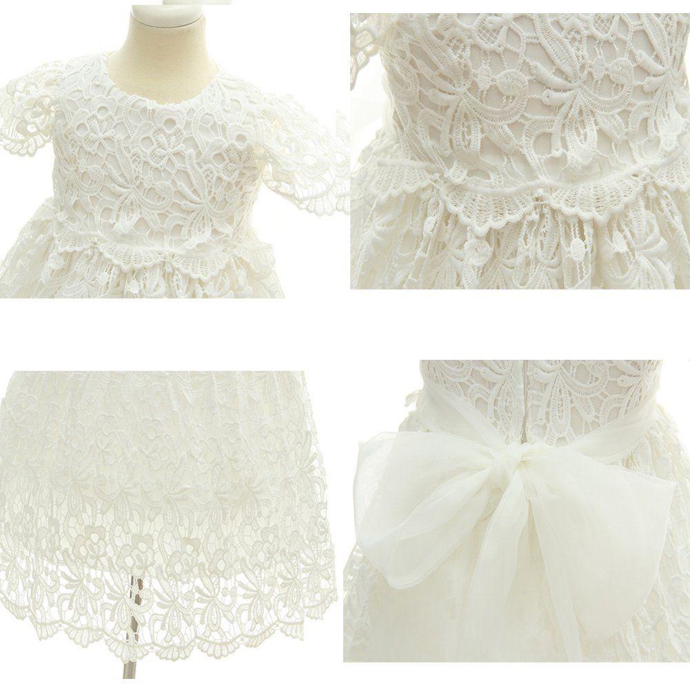 6126631fbcfb Moon Kitty Baby Girl Special Occasion Dress 2PCS Christening Baptism Gowns  Girls Hollow Long DressWhite3M26Months   You could obtain extra details at  the ...