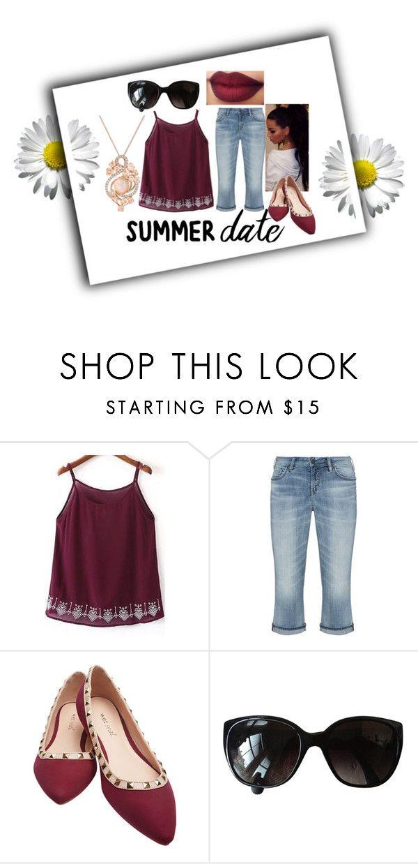 """""""Summer Date Contest"""" by misself765 ❤ liked on Polyvore featuring WithChic, Silver Jeans Co., Wet Seal, Chanel, LE VIAN, beach and summerdate"""