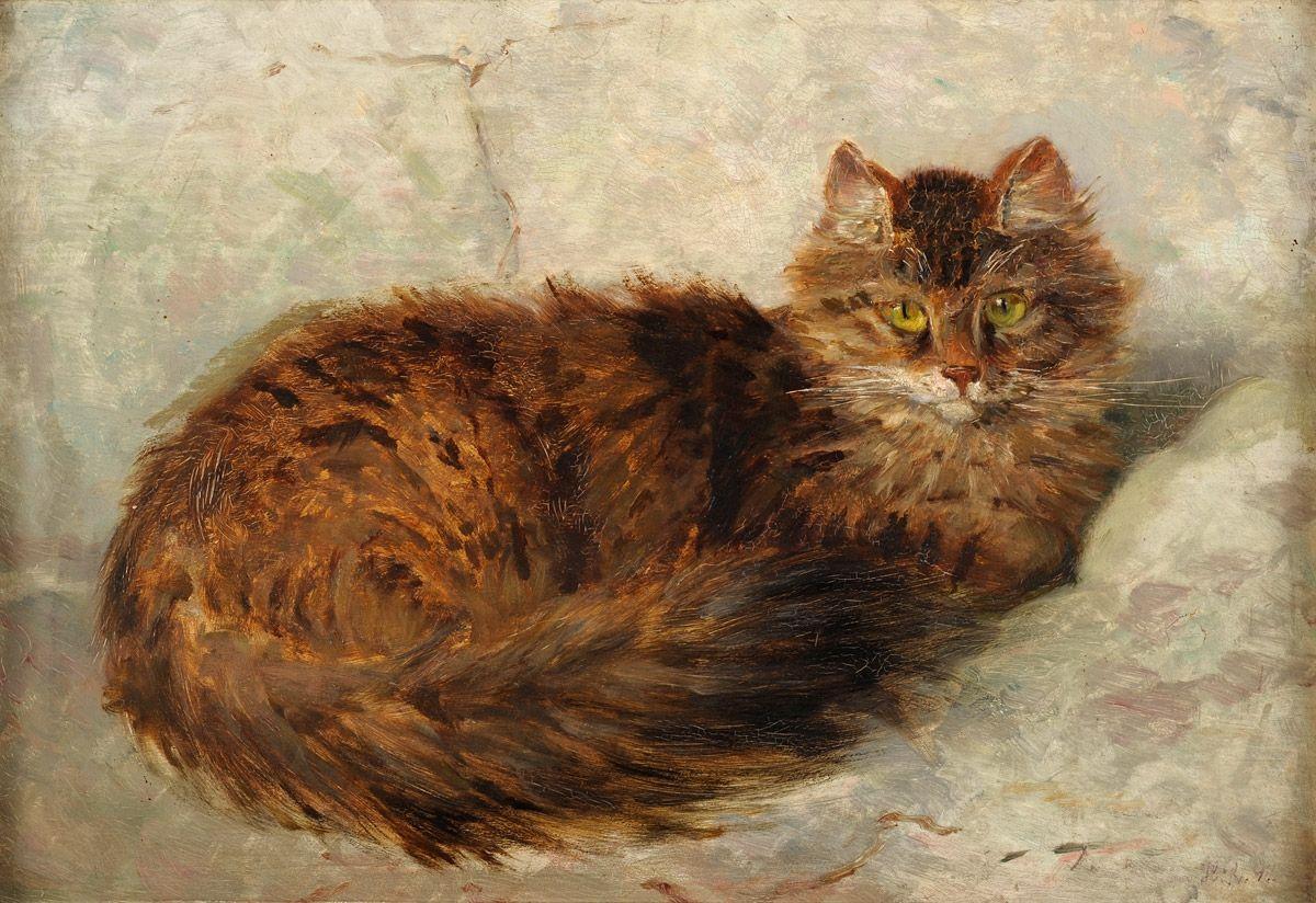 Katze, 1897 by Henriëtte Ronner-Knip (Dutch 1821 - 1909)