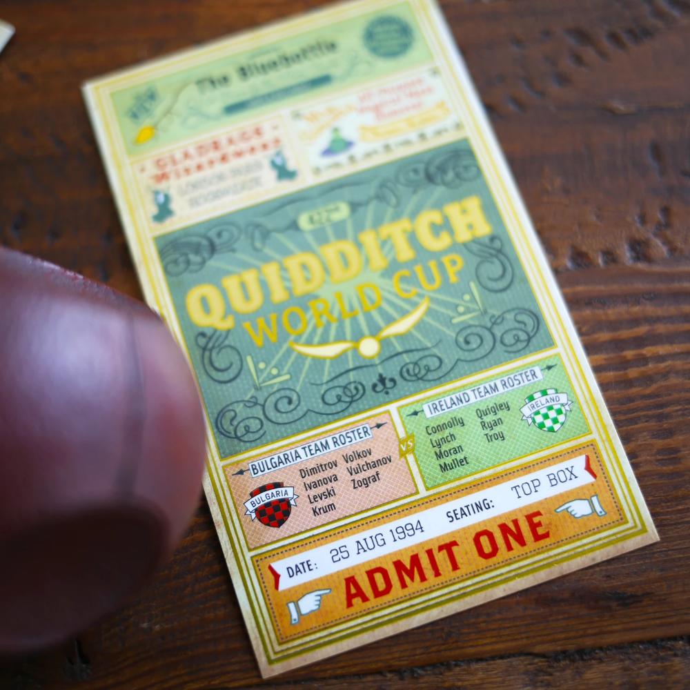 TICKET Quidditch World Cup World cup tickets, World