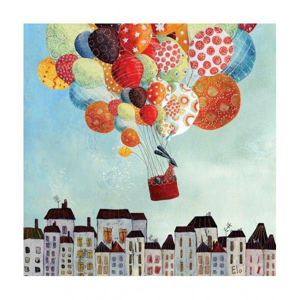 Tableau enfant ballons in volo peinture pinterest tableau enfant enfants et tableau - Tableau chambre d enfant ...