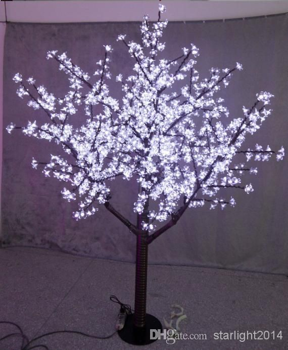 LED Christmas Light Cherry Blossom Tree 480pcs LED Bulbs 15m/5ft - outdoor christmas decorations wholesale