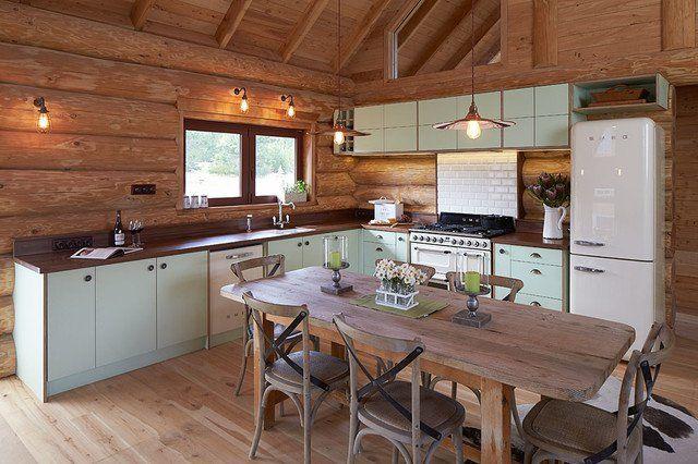 cuisine aménagée moderne bois | Chalet interior Design | Pinterest ...