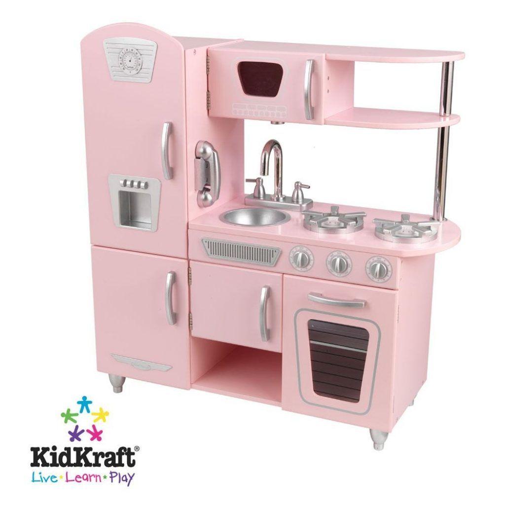 Pink kitchen pretend play set