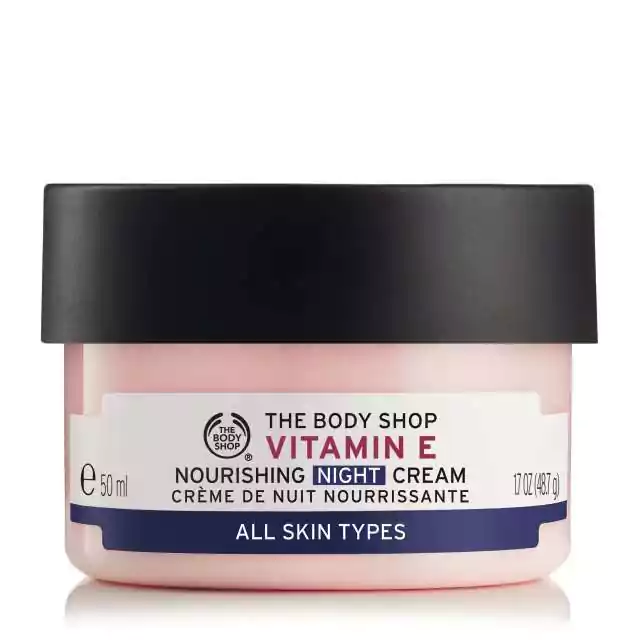 Vitamin E Nourishing Night Cream Cleansingmaskproducts Body Shop Vitamin E The Body Shop Night Creams