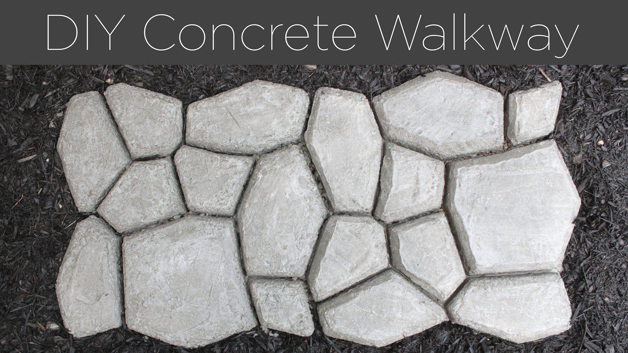 DIY Concrete Walkway ガーデン