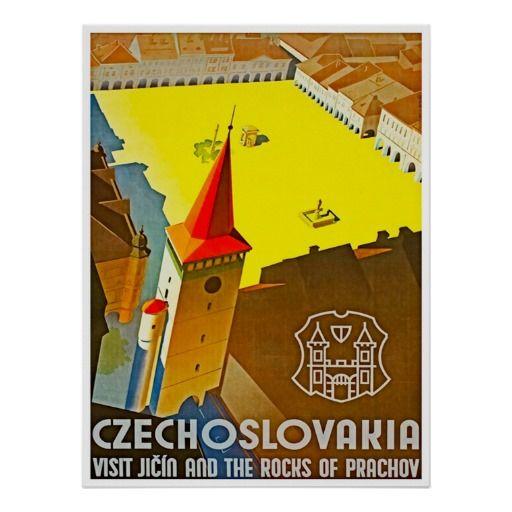 Czechoslovakia Vintage Travel Poster