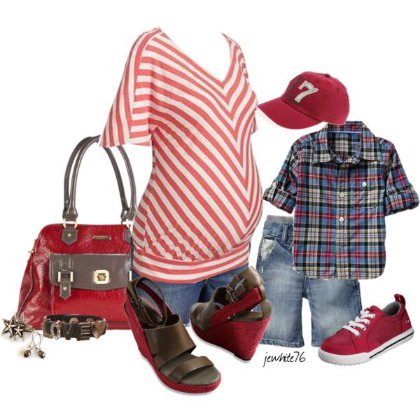 Goin Red w/the Lil Man by jewhite76 on Polyvore