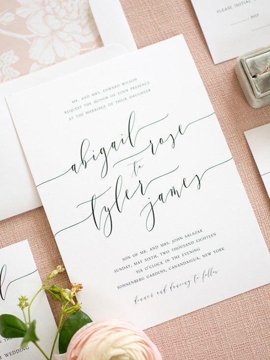 Clean Simple Elegant Wedding Invitations from Shine