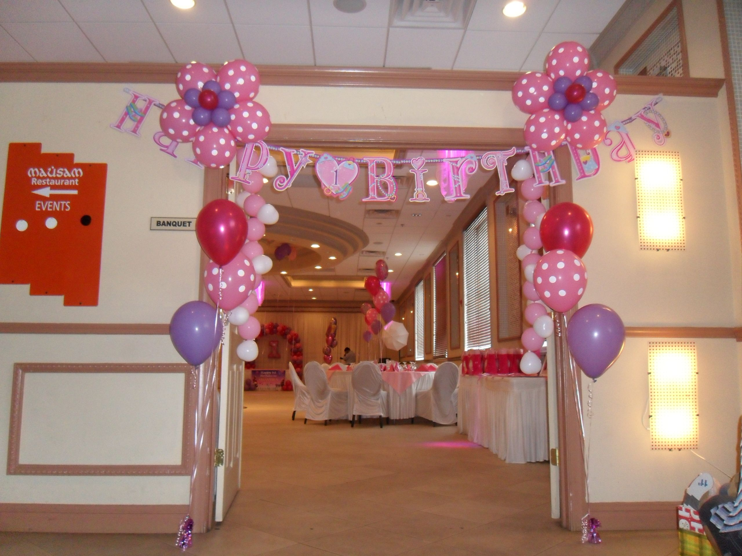 Princess Flower Balloon Door Entrance Decoration For A First