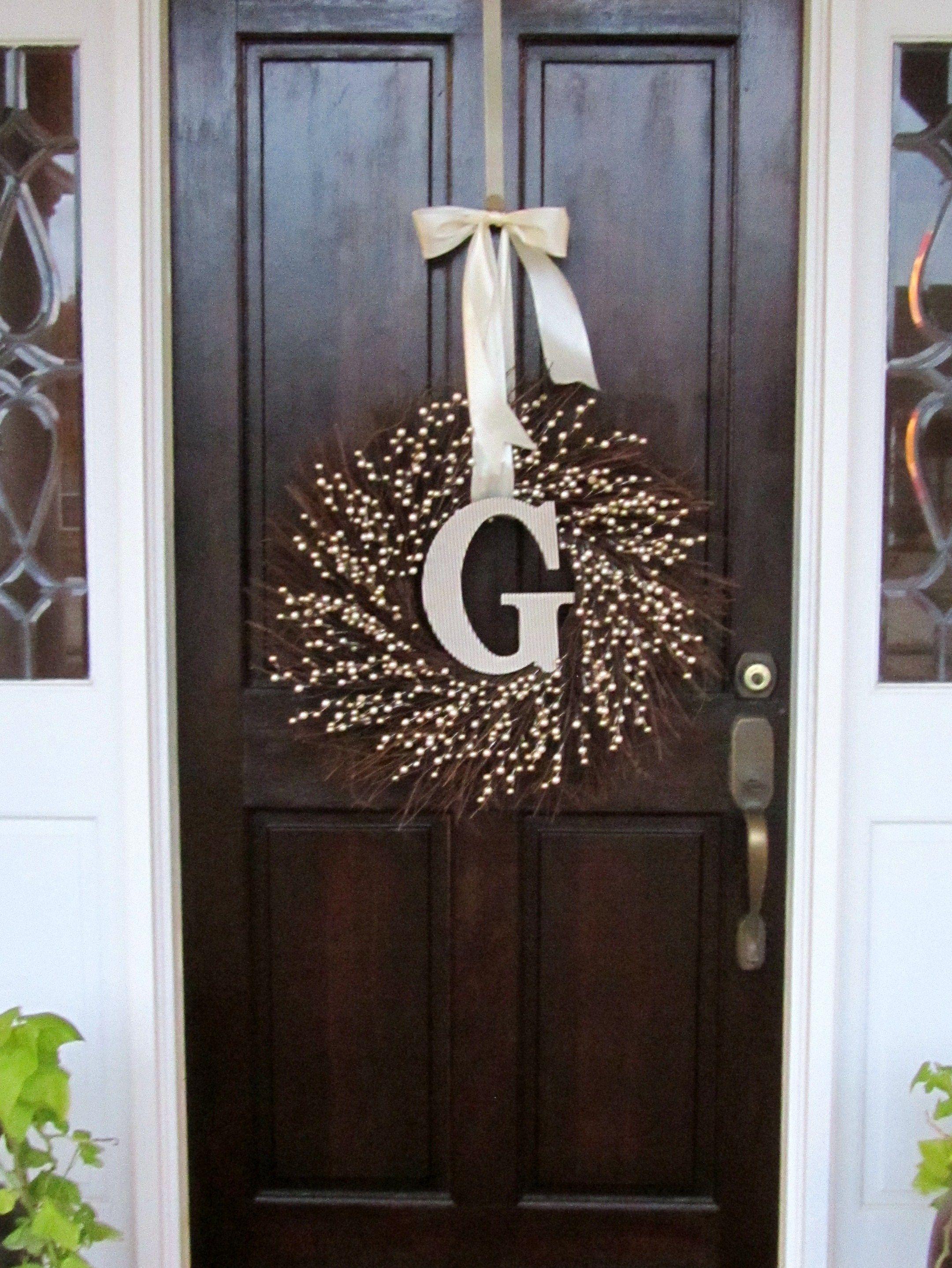 Diy winter wreaths for front door - Engagement Party Wreath Front Door
