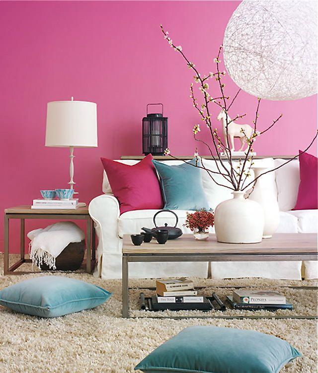 Fehér kanapé | Dream home | Pinterest | Pink walls, Room and Living ...
