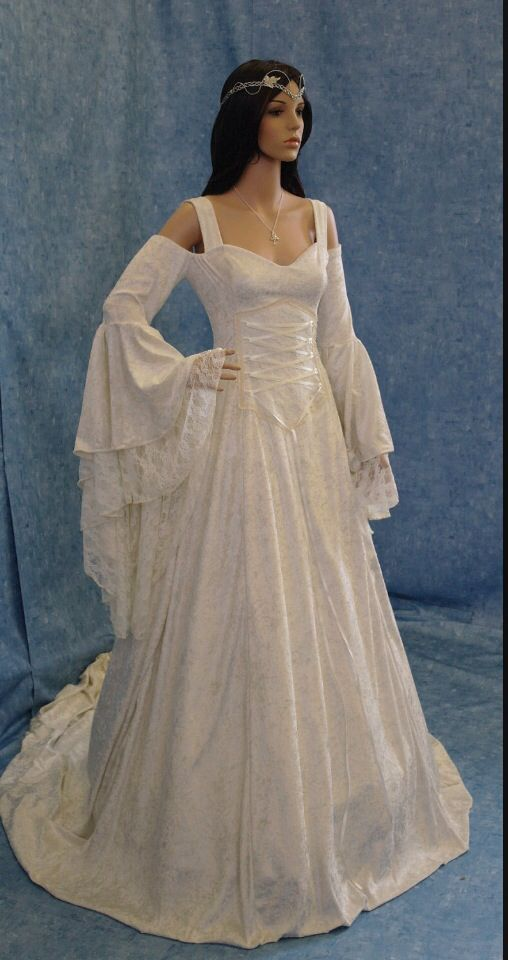 Elvish Wedding Dress Renaissance Wedding Dresses Medieval