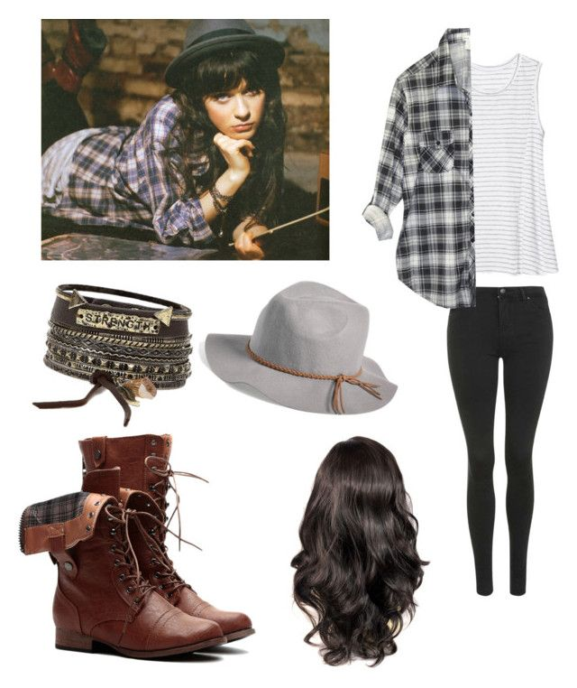 """Zooey Deschanel"" by penelope-tuesday ❤ liked on Polyvore"