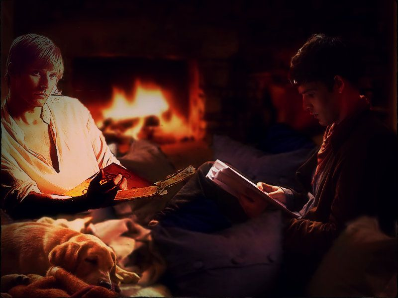 Arthur and Merlin reading together - now that's a nice thought