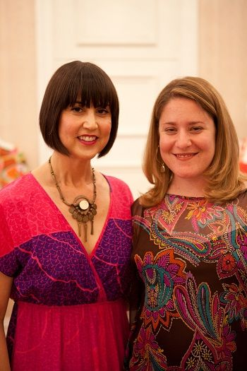 Trina Turk (LEFT) wearing vintage Jack Boyd necklace with Bobbye Tigerman (RIGHT), Assistant Curator of LACMA's Decorative Arts and Design Department.