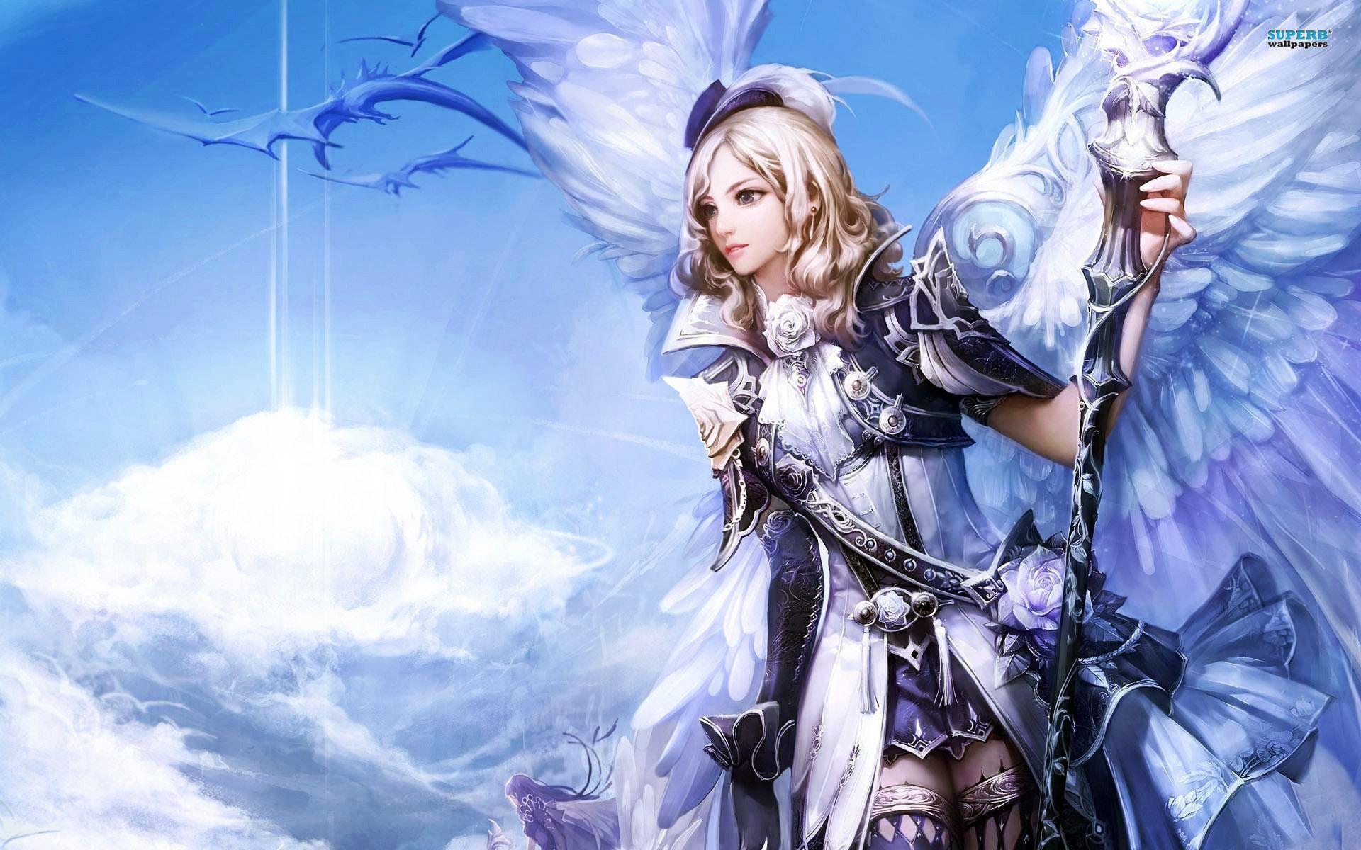Anime girl warior warrior angel wallpaper 1920x1200 - Anime female warrior ...