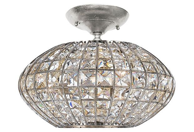 Solstice semi flush mount silver on onekingslane com crystorama chandeliers