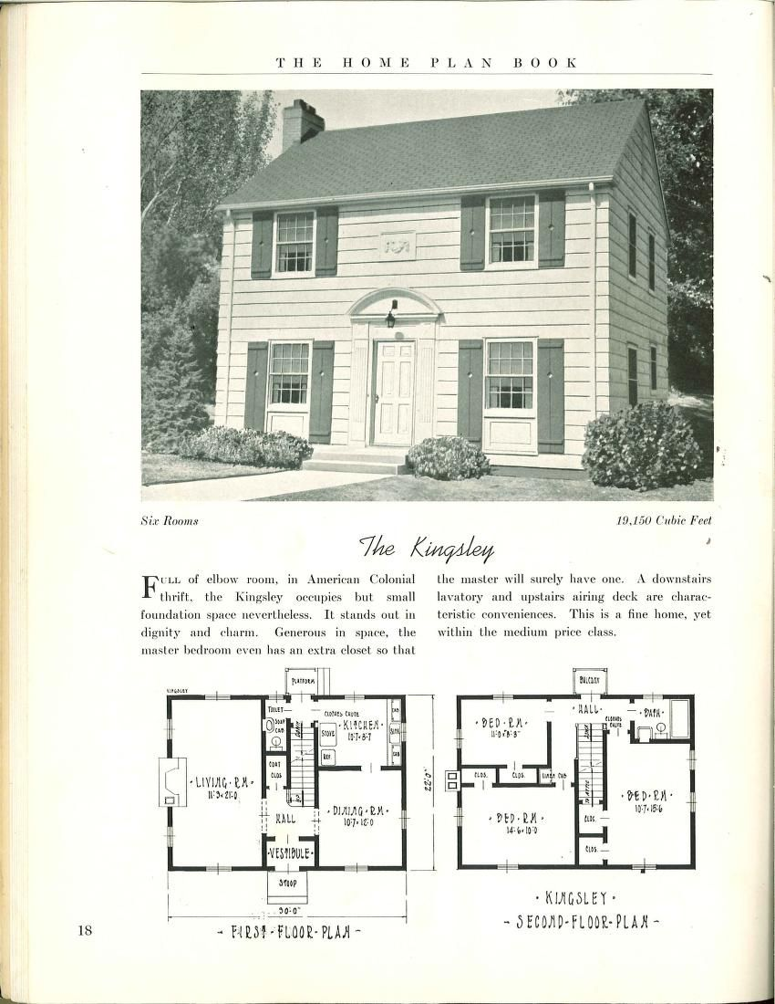 The Home Plan Book 49 Designs House Plans Historical House Plans Colonial House Plans