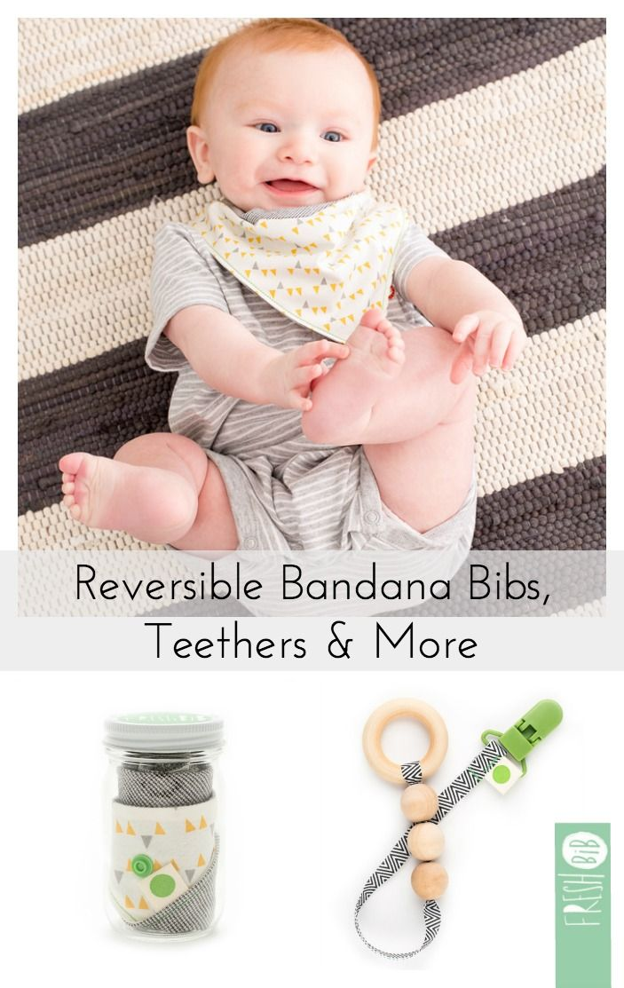 Handmade items for your littles. baby bandana bibs. wood teethers. universal paci-clips. And they come in the cutest packaging ever! Delivering smiles and making days easier...Fresh BiB