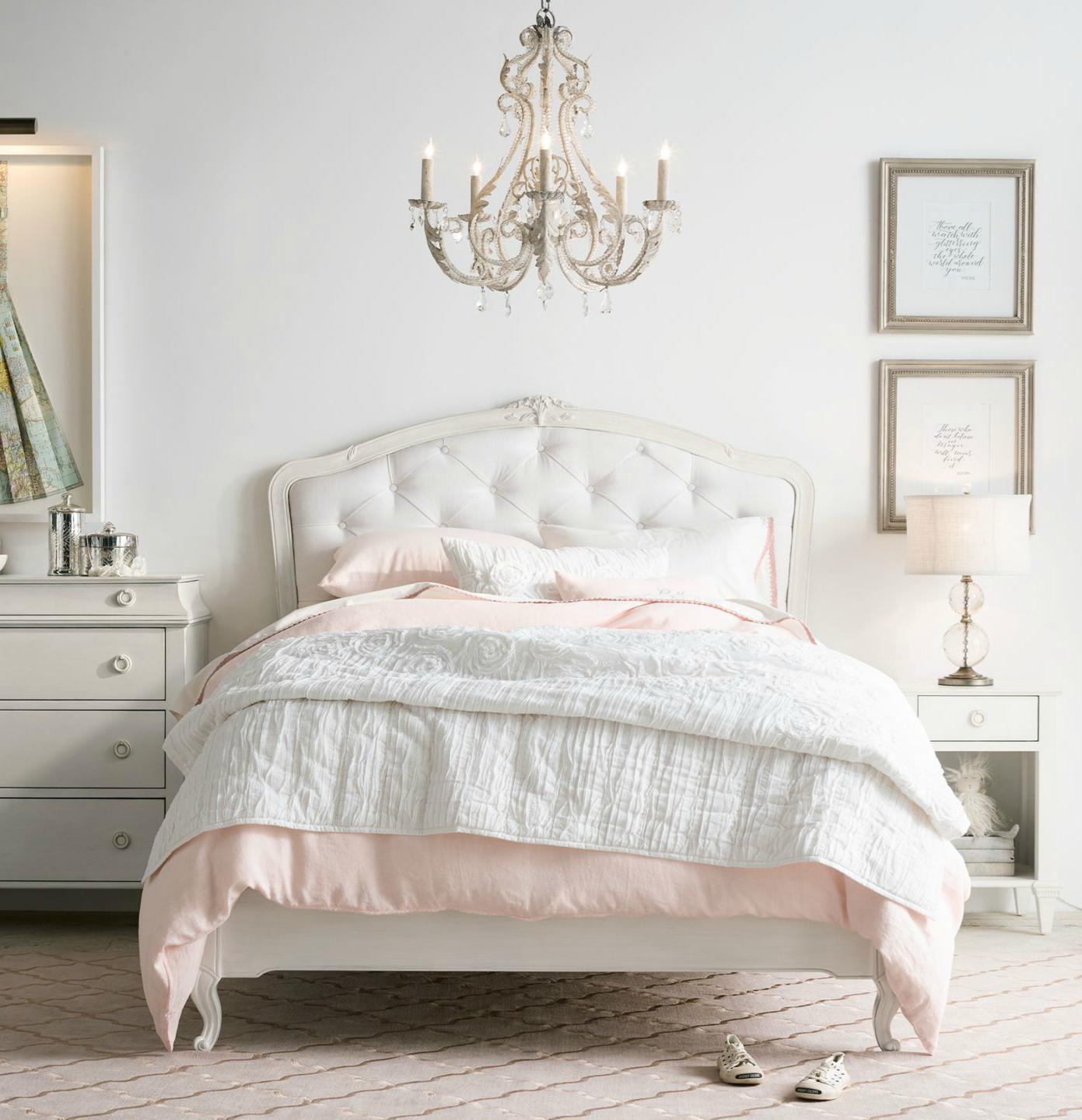 Louis XV-inspired Upholstered Bed. Sweet Sophistication