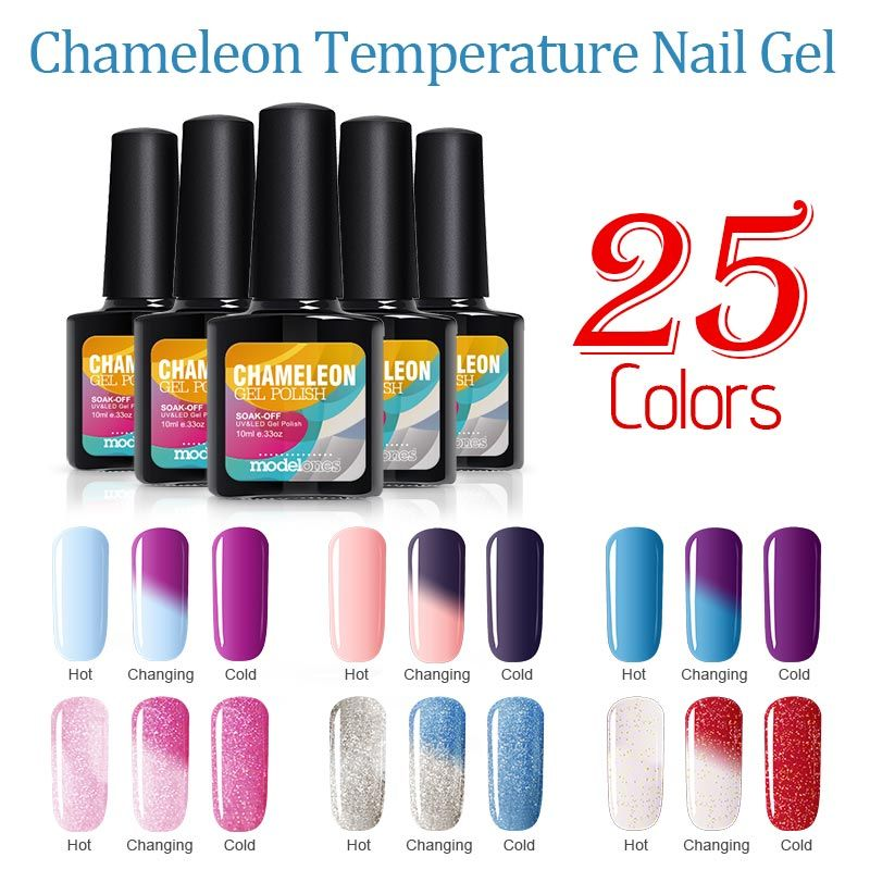 Aliexpress Com Buy Modelones 10ml Temperature Color Change Colorful Nail Gel Gel Nails Gel Polish Gel Nail Polish