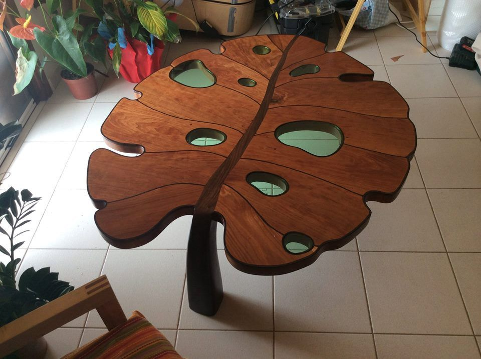 f792dcad547f58 Table basse forme de feuille   Bois   Pinterest   Table, Leaf table ...