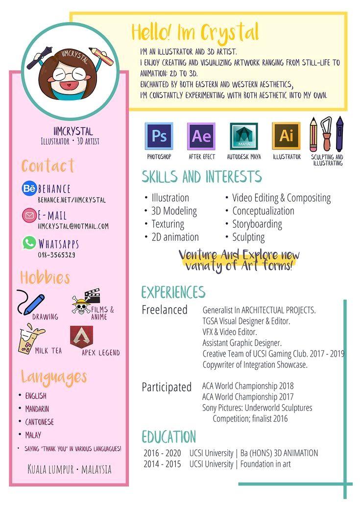 Creative resume cv and personal presentation