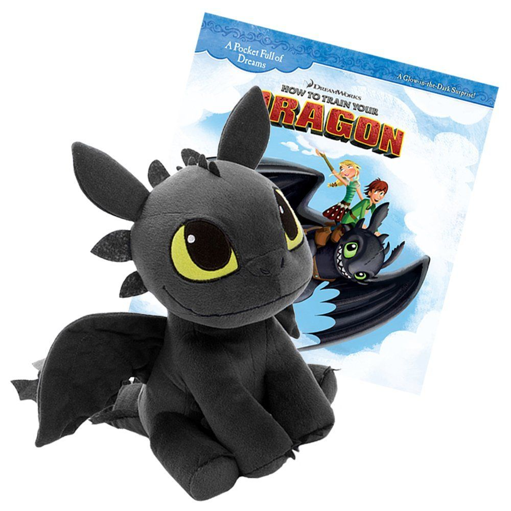 78533cab1e0 Dreamworks How To Train Your Dragon 12 inch Plush Toothless with a 30 Page  - Pocket Full of Dreams - Story Book Combo Pack