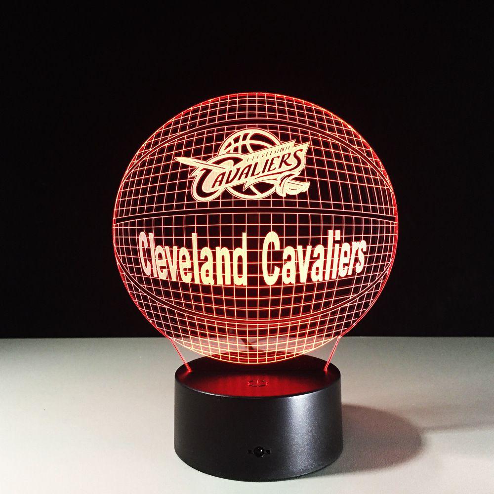 Nba Cleveland Cavaliers 3d Lamp Light 3d Led Night Light Led Night Light 3d Night Light