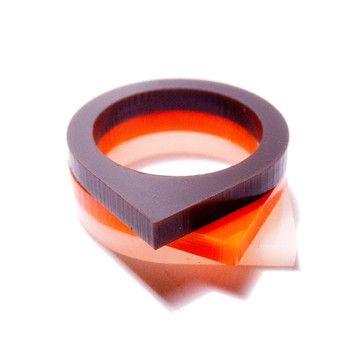 Triptic Teardrop Rings Retros  by plastique*