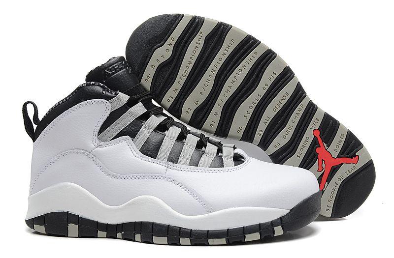 d43ecebf5bf air jordan 10 retro steels white black light steel grey shoes ...