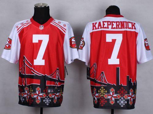 Men's San Francisco 49ers #7 Colin Kaepernick 2015 Nike Black Elite Jersey