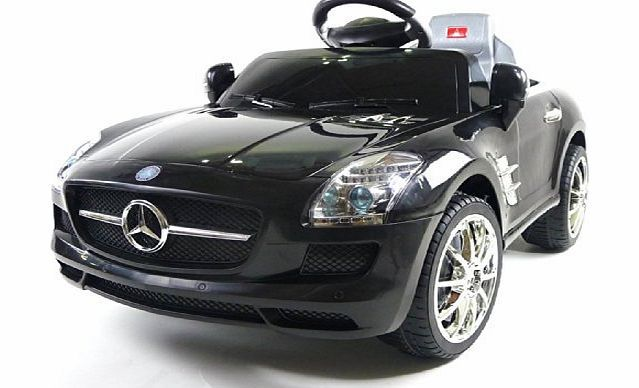 High Quality Predatour Licensed Mercedes SLS 6V Ride On Kids Electric Car With Remote    Black   New