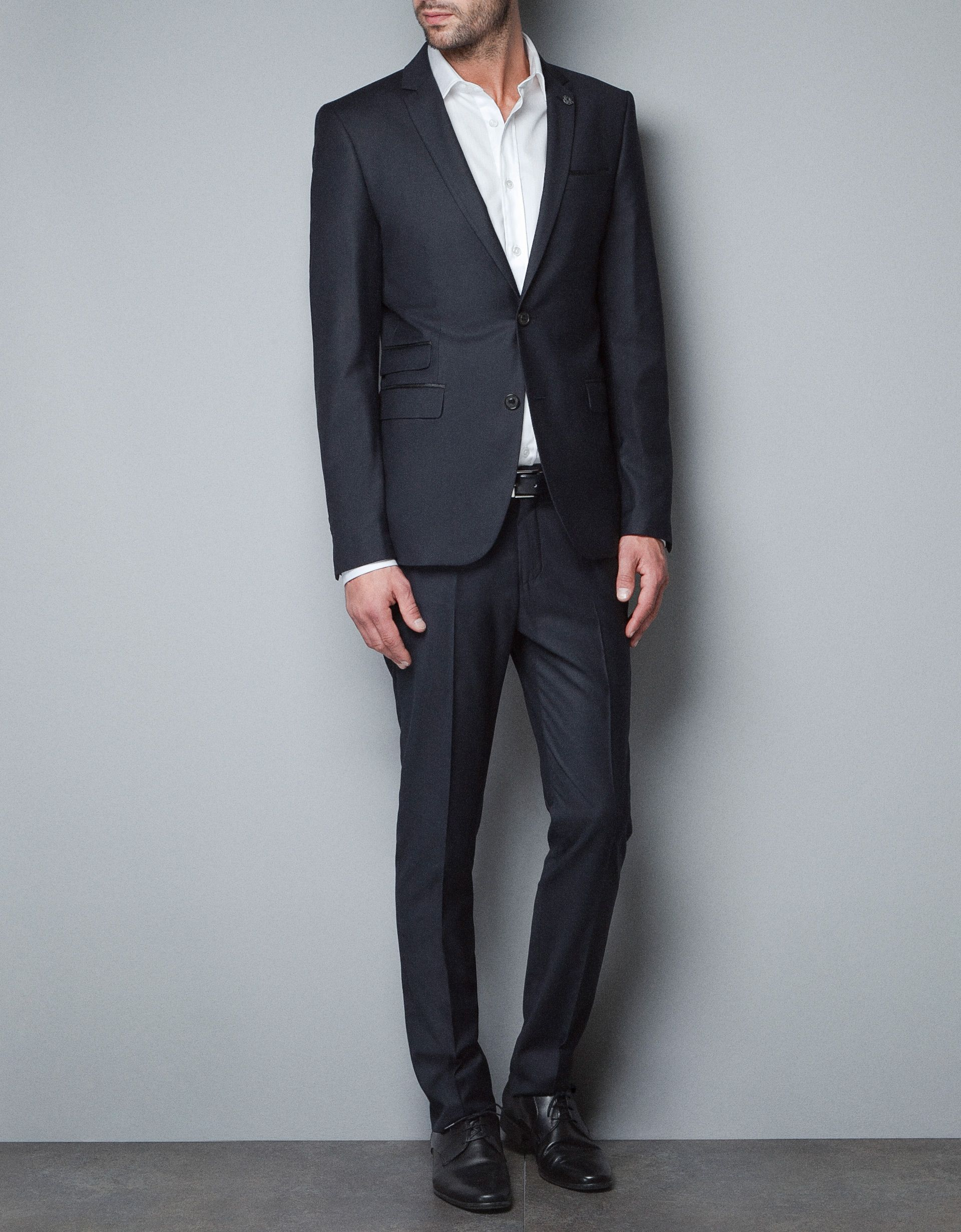 b4429991 SUIT WITH LAPEL PIN - Suits - Man - ZARA Italy | Wedding Bells ...