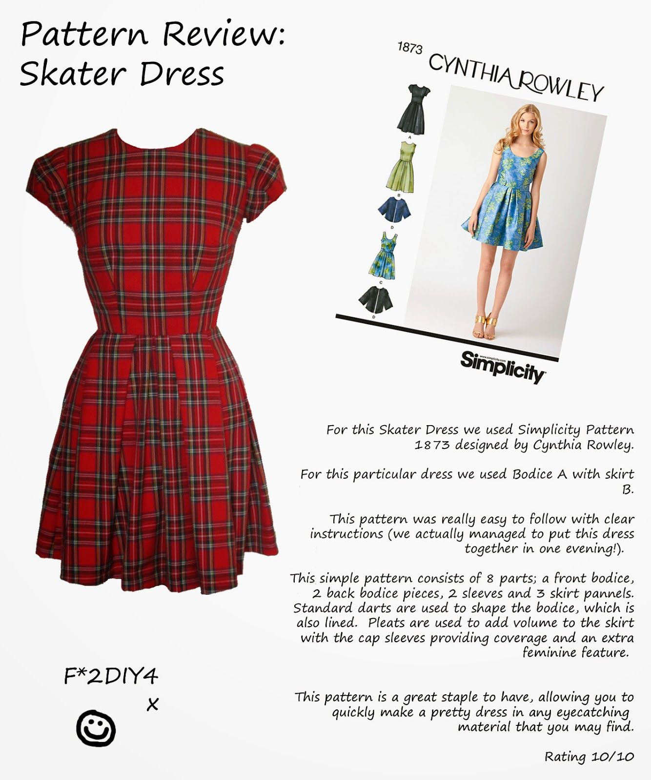 Fashion to DIY for: Pattern Review: Skater Dress | Crafts ...