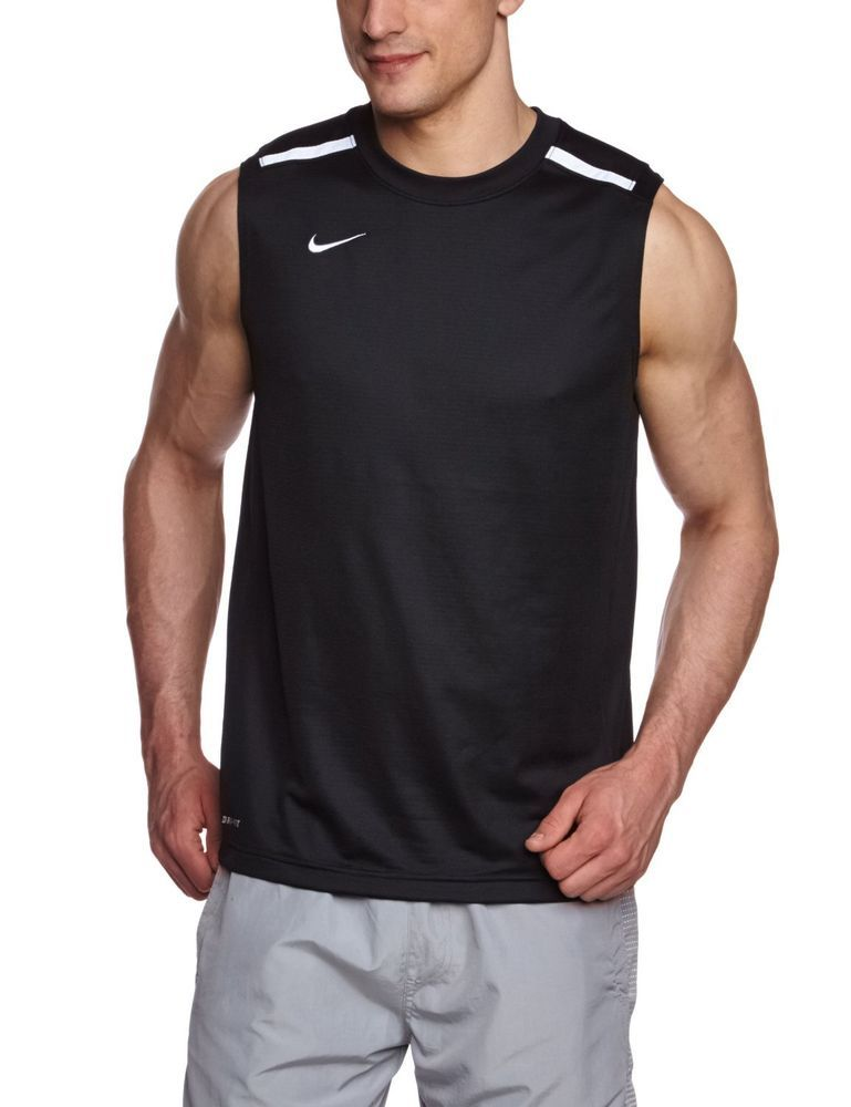 fdf5ae70e602b Nike Dri Fit Mens Basketball League Sleeveless Shirt Black Sizes M ...