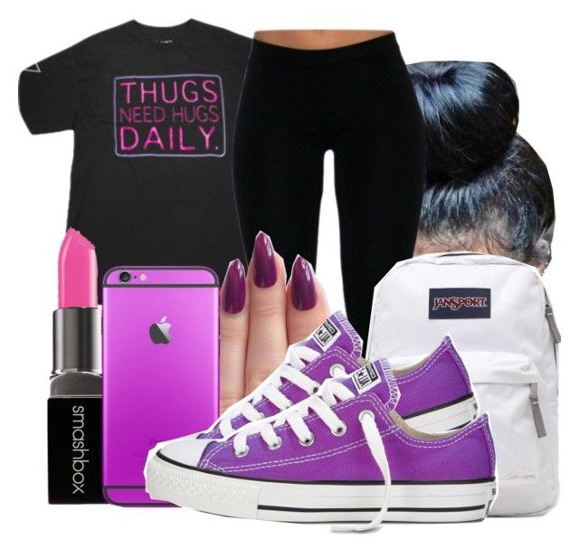 """""""Untitled #1522"""" by honey-cocaine1972 ❤ liked on Polyvore featuring Entree, Smashbox and JanSport"""