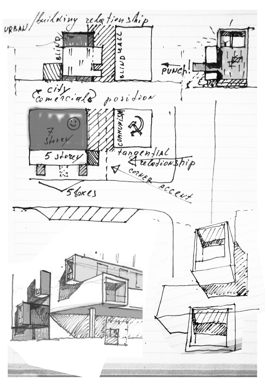Lsg Head Office Building Urban Office Sketch