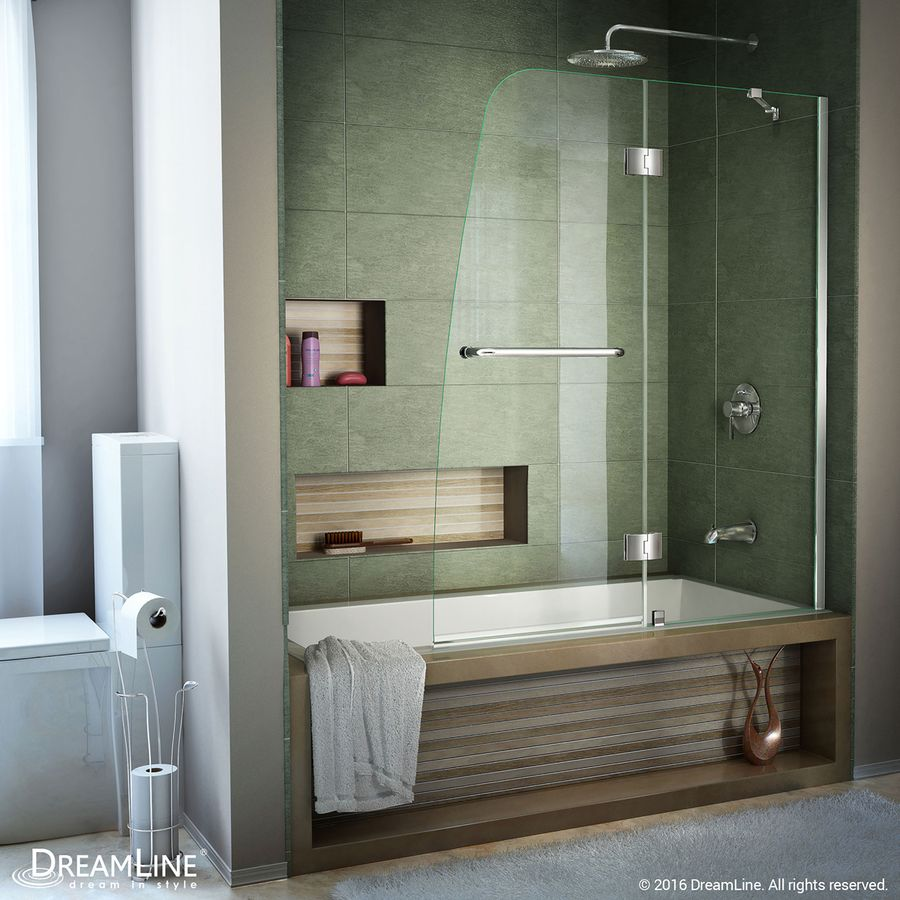 Dreamline Aqua 48 In W X 58 In H Frameless Bathtub Door Shdr 3148586