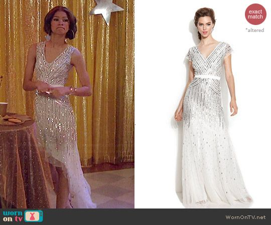 75b567bb9a9dce KC s white sequinned asymmetric dress on KC Undercover. Outfit Details   http
