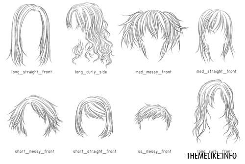 Pin By Hawraa Abul On Manga Photoshop Hair Manga Hair Anime Hair