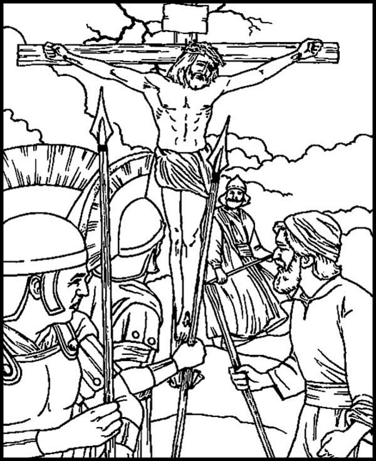 Crucifixion Of Jesus Christ Coloring Pages Bible Coloring Pages Pokemon Coloring Pages