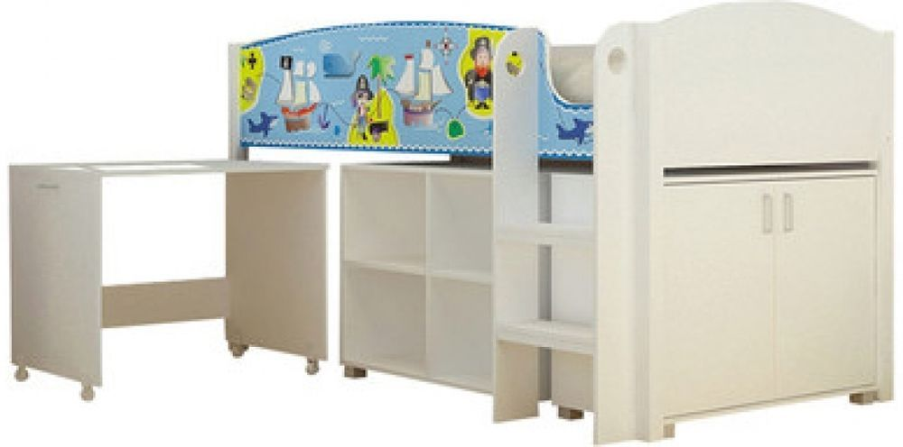High Quality Home And Haus Pirate Study Mid Sleeper Bunk Bed High Sleeper Bedroom  Furniture