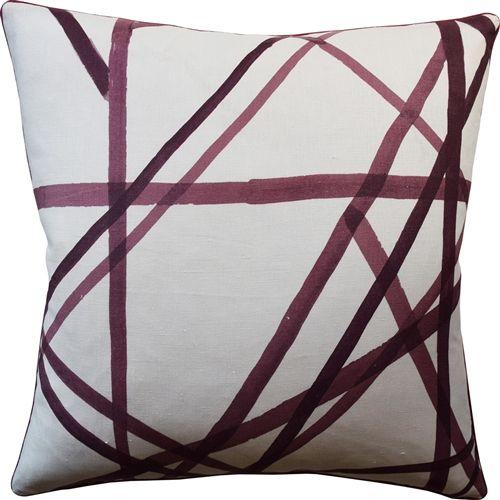 Channels Plum Decorative Pillow