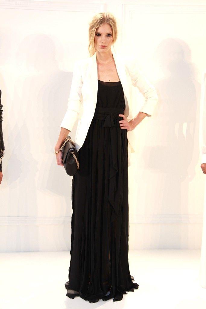 Long dress blazer top