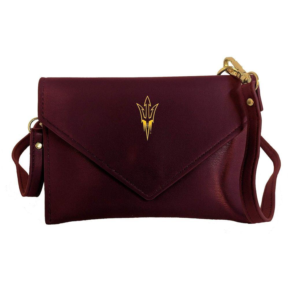 Vegan Leather Trim and Tassels Desden Alabama Crimson Tide Clear Handbag with Logo